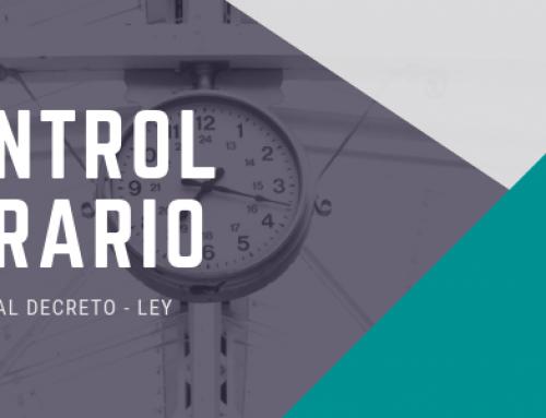 Control de horario (Real Decreto-ley 8/2019)